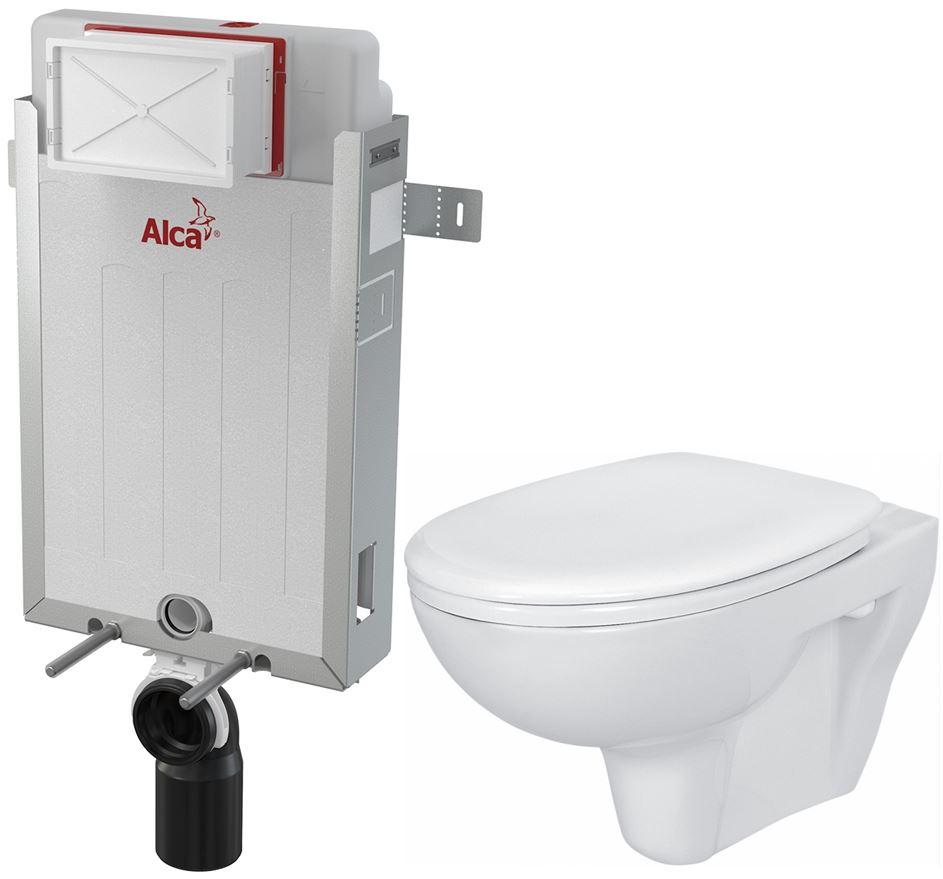 /SET/ALCAPLAST - Renovmodul - predstenový inštalačný systém + WC CERSANIT PRESIDENT + SEDADLO (AM115/1000 X PR1)