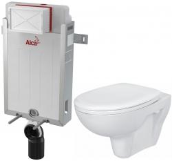 AKCE/SET/ALCAPLAST - SET Renovmodul - predstenový inštalačný systém + WC CERSANIT PRESIDENT + SEDADLO (AM115/1000 X PR1)