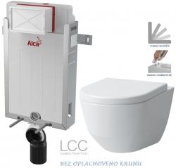 AKCE/SET/ALCAPLAST - Renovmodul - predstenový inštalačný systém + WC LAUFEN PRO LCC RIMLESS + SEDADLO (AM115/1000 X LP2)