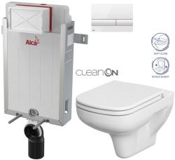 AKCE/SET/ALCAPLAST - SET Renovmodul - predstenový inštalačný systém + tlačidlo M1710 + WC CERSANIT CLEANON colur + SEDADLO (AM115/1000 M1710 CN1)