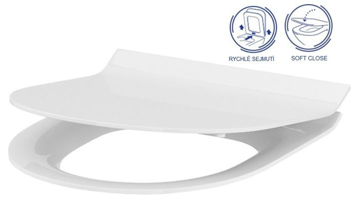 ALCAPLAST  Renovmodul - predstenový inštalačný systém s bielym / chróm tlačidlom M1720-1 + WC CERSANIT CLEANON CREA OVÁL + SEDADLO (AM115/1000 M1720-1 CR1)