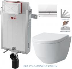 AKCE/SET/ALCAPLAST - SET Renovmodul - predstenový inštalačný systém + tlačidlo M1720-1 + WC LAUFEN PRO RIMLESS + SEDADLO (AM115/1000 M1720-1 LP1)
