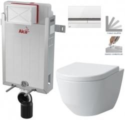 AKCE/SET/ALCAPLAST - SET Renovmodul - predstenový inštalačný systém + tlačidlo M1720-1 + WC LAUFEN PRO + SEDADLO (AM115/1000 M1720-1 LP3)