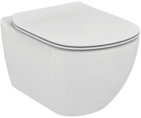 ALCAPLAST  Renovmodul - predstenový inštalačný systém s chrómovým tlačidlom M1721 + WC Ideal Standard Tesi so sedadlom SoftClose, AquaBlade (AM115/1000 M1721 TE1)
