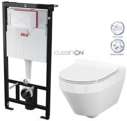 AKCE/SET/ALCAPLAST - SET Sádromodul - predstenový inštalačný systém určený pre suchú inštaláciu 1,2 m + WC CERSANIT CLEANON CREA OVÁL + SEDADLO (AM101/1120 X CR1)
