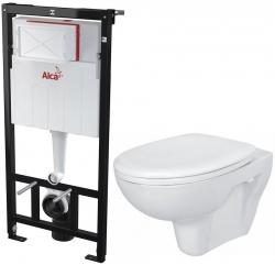 AKCE/SET/ALCAPLAST - SET Sádromodul - predstenový inštalačný systém určený pre suchú inštaláciu 1,2 m + WC CERSANIT PRESIDENT + SEDADLO (AM101/1120 X PR1)