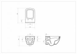 AKCE/SET/ALCAPLAST - SET Sádromodul - predstenový inštalačný systém + tlačidlo M1710 + WC CERSANIT CLEANON METROPOLITAN + SEDADLO (AM101/1120 M1710 ME1), fotografie 10/9