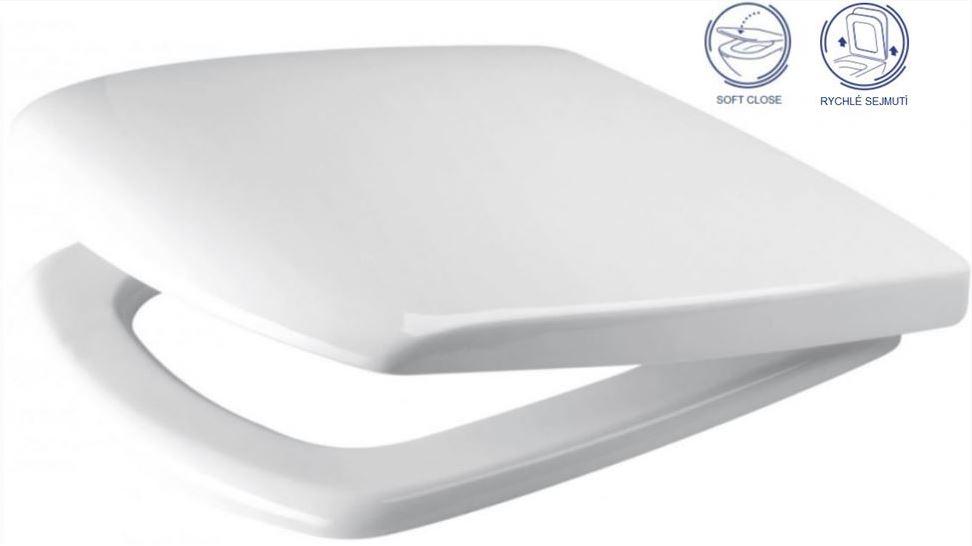 AKCE/SET/ALCAPLAST - Sádromodul - predstenový inštalačný systém + tlačidlo M1721 + WC CERSANIT CLEANON CARINA + SEDADLO (AM101/1120 M1721 CA2), fotografie 10/8