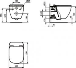 AKCE/SET/ALCAPLAST - SET Sádromodul - predstenový inštalačný systém + tlačidlo M1721 + WC TESI so sedadlom SoftClose, AquaBlade (AM101/1120 M1721 TE1), fotografie 10/7