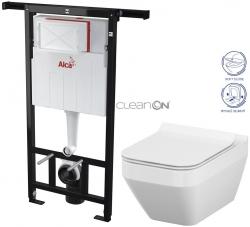 AKCE/SET/ALCAPLAST - SET Jádromodul - predstenový inštalačný systém + WC CERSANIT CLEANON CREA ŠTVOREC + SEDADLO (AM102/1120 X CR2)