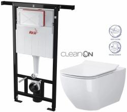ALCAPLAST  Jádromodul - predstenový inštalačný systém bez tlačidla + WC OPOCZNO CLEANON METROPOLITAN + SEDADLO (AM102/1120 X ME1)