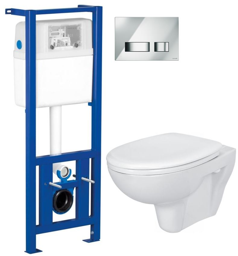 /SET/CERSANIT - Nádržka + WC + sedátko + tlačidlo /K97-108 + K97-086 + K08-027 + K98-0022/ (SET/0002)