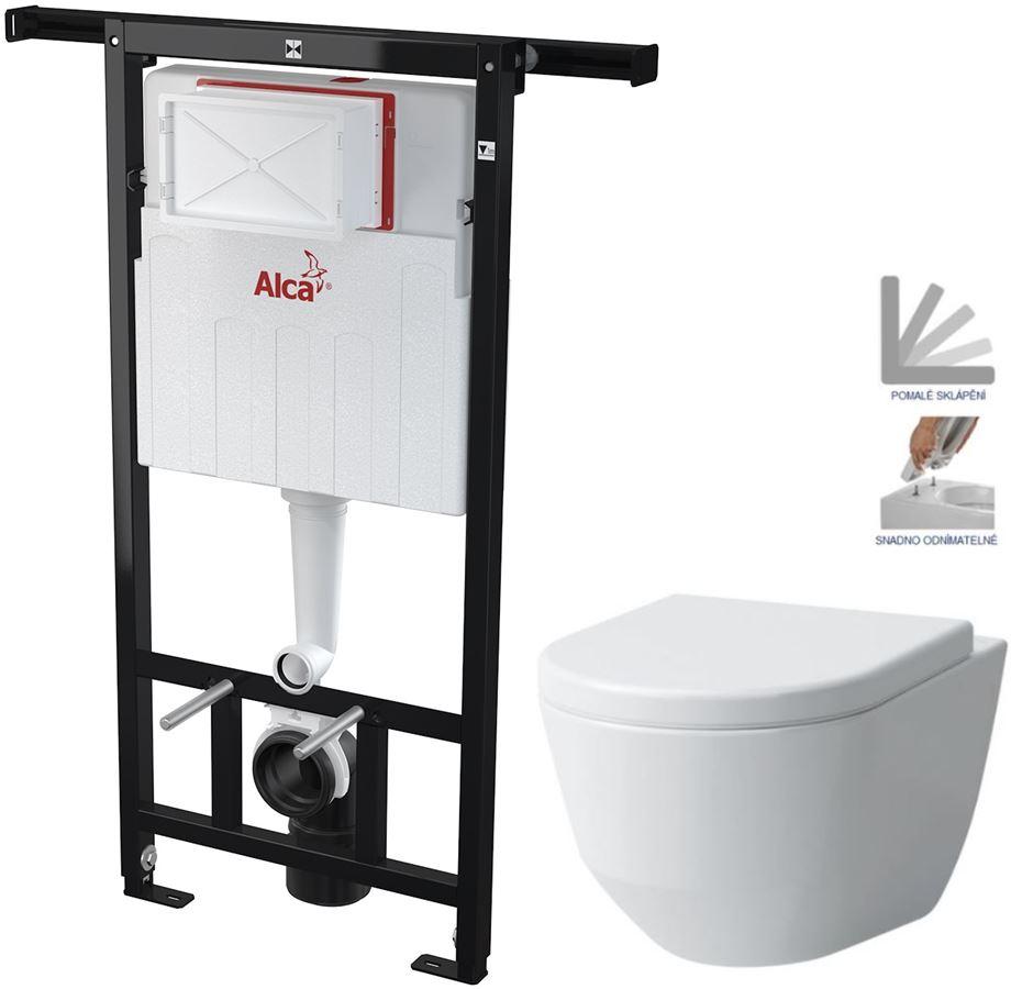 AKCE/SET/ALCAPLAST - Jádromodul - predstenový inštalačný systém + WC LAUFEN PRO + SEDADLO (AM102/1120 X LP3)