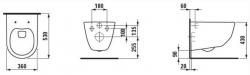 AKCE/SET/ALCAPLAST - SET Jádromodul - predstenový inštalačný systém + tlačidlo M1710 + WC LAUFEN PRO + SEDADLO (AM102/1120 M1710 LP3), fotografie 8/9