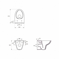 AKCE/SET/ALCAPLAST - Jádromodul - predstenový inštalačný systém + tlačidlo M1710 + WC CERSANIT CLEANON Parva + SEDADLO (AM102/1120 M1710 PA1), fotografie 10/9