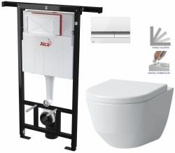 AKCE/SET/ALCAPLAST - SET Jádromodul - predstenový inštalačný systém + tlačidlo M1720-1 + WC LAUFEN PRO + SEDADLO (AM102/1120 M1720-1 LP3)