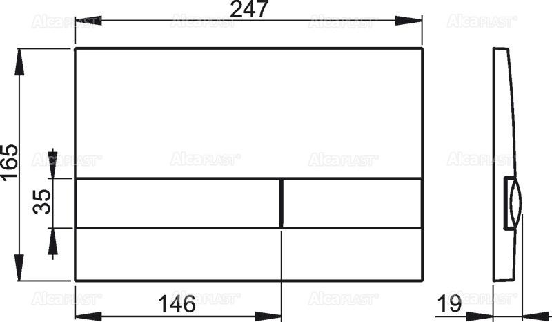 AKCE/SET/ALCAPLAST - Jádromodul - predstenový inštalačný systém + tlačidlo M1721 + WC CERSANIT CLEANON URBAN HARMONY + SEDADLO (AM102/1120 M1721 HA1), fotografie 6/9