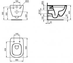 GEBERIT - SET KOMBIFIXBasic vrátane ovládacieho tlačidla DELTA 50 CR pre závesné WC TESI RIMLESS (110.100.00.1 50CR TE2), fotografie 22/11