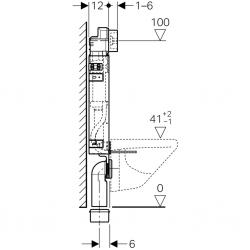 AKCE/SET/GEBERIT - SET KOMBIFIXBasic vrátane ovládacieho tlačidla DELTA 50 CR pre závesné WC TESI RIMLESS (110.100.00.1 50CR TE2), fotografie 10/11