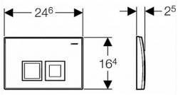 GEBERIT - SET KOMBIFIXBasic vrátane ovládacieho tlačidla DELTA 50 CR pre závesné WC TESI RIMLESS (110.100.00.1 50CR TE2), fotografie 16/11