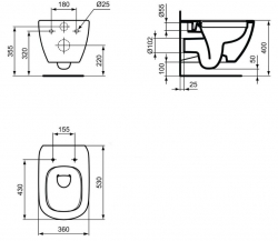 AKCE/SET/GEBERIT - SET Duofix Sada pre závesné WC 458.103.00.1 + tlačidlo DELTA21 matné + WC TESI RIMLESS (458.103.00.1 21MA TE2), fotografie 20/10