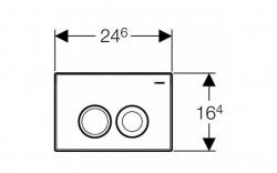 AKCE/SET/GEBERIT - SET Duofix Sada pre závesné WC 458.103.00.1 + tlačidlo DELTA21 matné + WC TESI RIMLESS (458.103.00.1 21MA TE2), fotografie 10/10