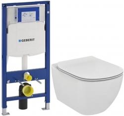 AKCE/SET/GEBERIT - Duofix pre závesné WC 111.300.00.5 bez ovládavý dosky + WC TESI (111.300.00.5 TE3)