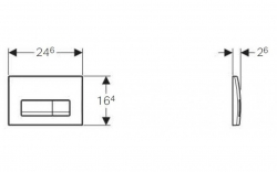 AKCE/SET/GEBERIT - Duofix Sada pre závesné WC 458.103.00.1 + tlačidlo DELTA51 CHRÓM + WC TESI (458.103.00.1 51CR TE3), fotografie 8/7