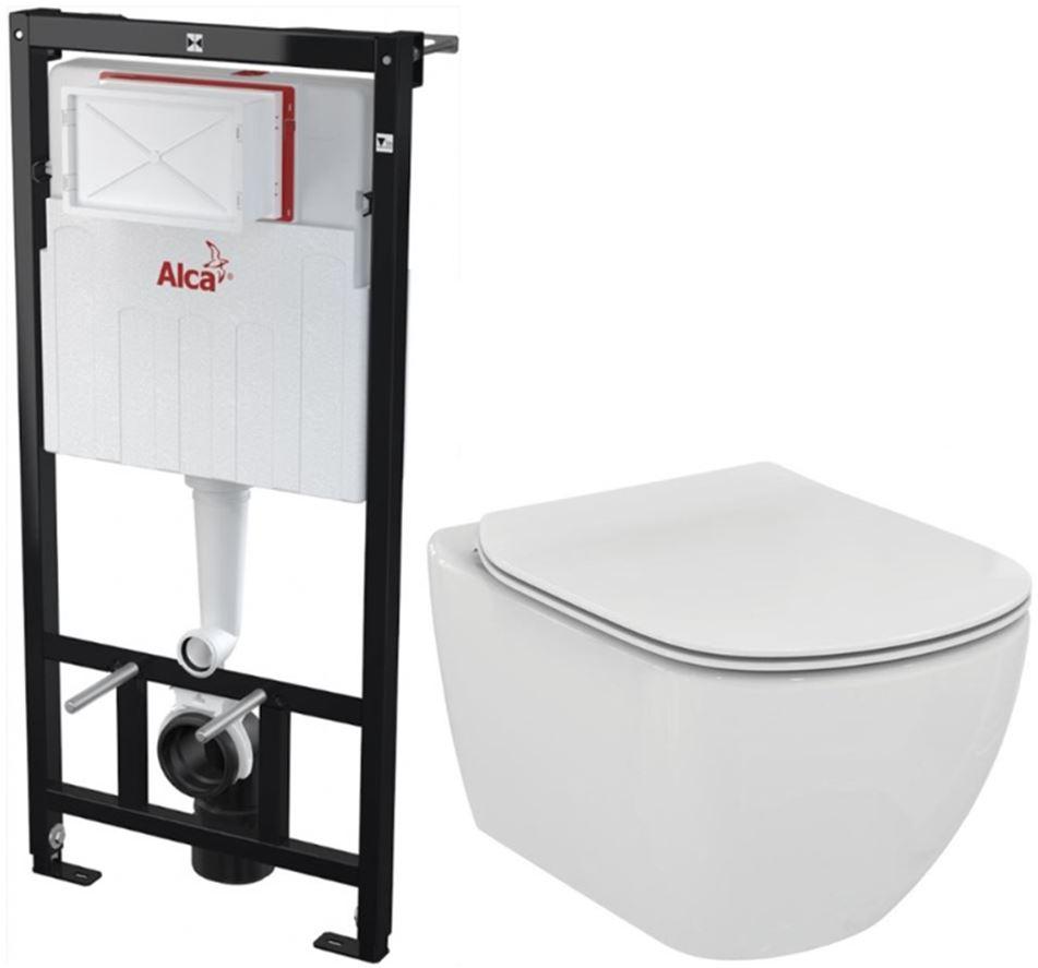 /SET/ALCAPLAST - Sádromodul - predstenový inštalačný systém + WC TESI (AM101/1120 X TE3)