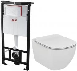 AKCE/SET/ALCAPLAST - SET Sádromodul - predstenový inštalačný systém + WC TESI (AM101/1120 X TE3)
