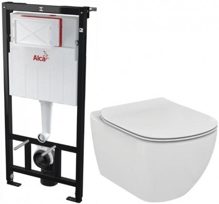 AKCE/SET/ALCAPLAST - Sádromodul - predstenový inštalačný systém + WC TESI (AM101/1120 X TE3)