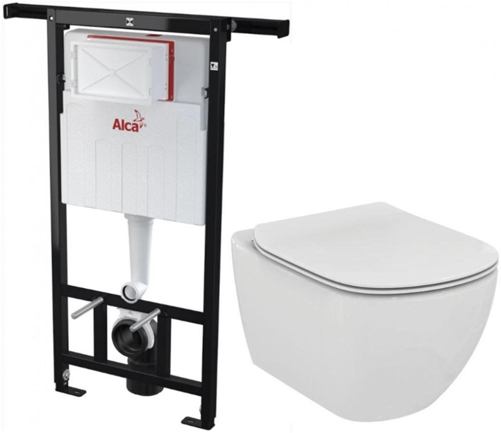 /SET/ALCAPLAST - Jádromodul - predstenový inštalačný systém + WC TESI (AM102 / 1120 X TE3)