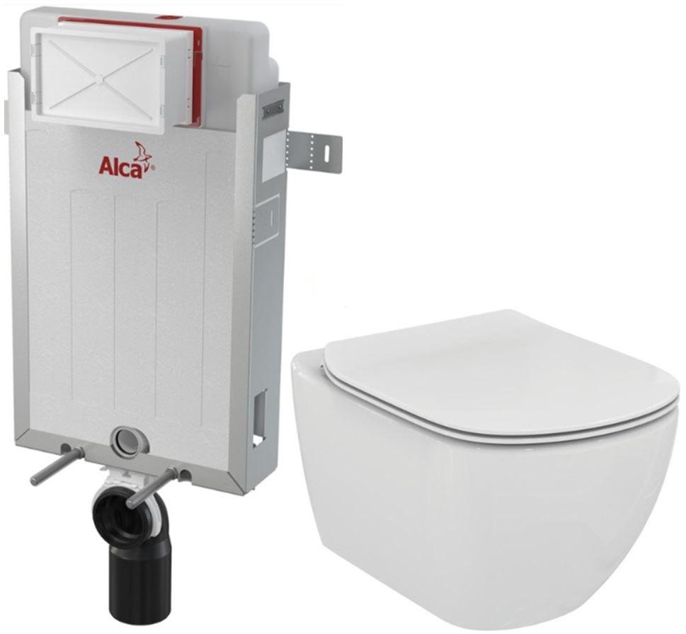 /SET/ALCAPLAST - Renovmodul - predstenový inštalačný systém + WC TESI (AM115/1000 X TE3)