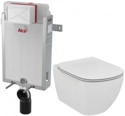 AKCE/SET/ALCAPLAST - Renovmodul - predstenový inštalačný systém + WC TESI (AM115/1000 X TE3)