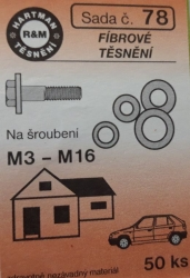 VÝPRODEJ - Těsnění fíbrová 50ks (S78)