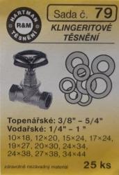 VÝPRODEJ - Těsnění klingeritová 25 ks (S79)