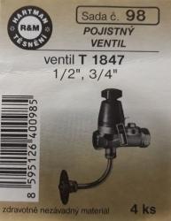 VÝPRODEJ - Těsnění PO ventil T1847 (S98)