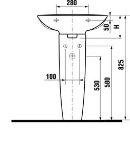 JIKA MIO JP-bílá umyvadlo 60cm BEZ otvoru +JIKAperla 8.1071.3.100.109.1 (H8107131001091)
