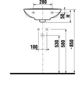 JIKA MIO JP-bílé umyvadlo 65cm BEZ otvoru +JIKAperla 8.1071.4.100.109.1 (H8107141001091)