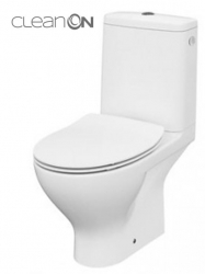 CERSANIT - WC KOMBI MODUO 649 010 3/5 CLEAN ON, SEDADLO SLIM DUROPLAST-SOFT CLOSE (K116-001)