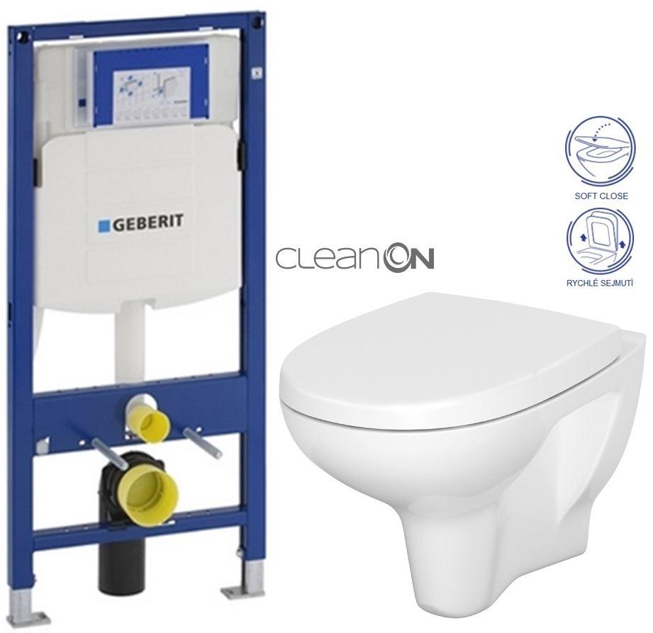 GEBERIT Duofix bez ovládací desky + WC CERSANIT ARTECO CLEANON + SEDÁTKO (111.300.00.5 AT1)