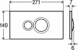 AKCE/SET/VIEGA - SET MONO modul WC čelné ovládanie + ovládacie tlačidlo BIELE + WC CERSANIT ARTECO CLEAN ON + SEDADLO (V606732BI AT1), fotografie 14/8