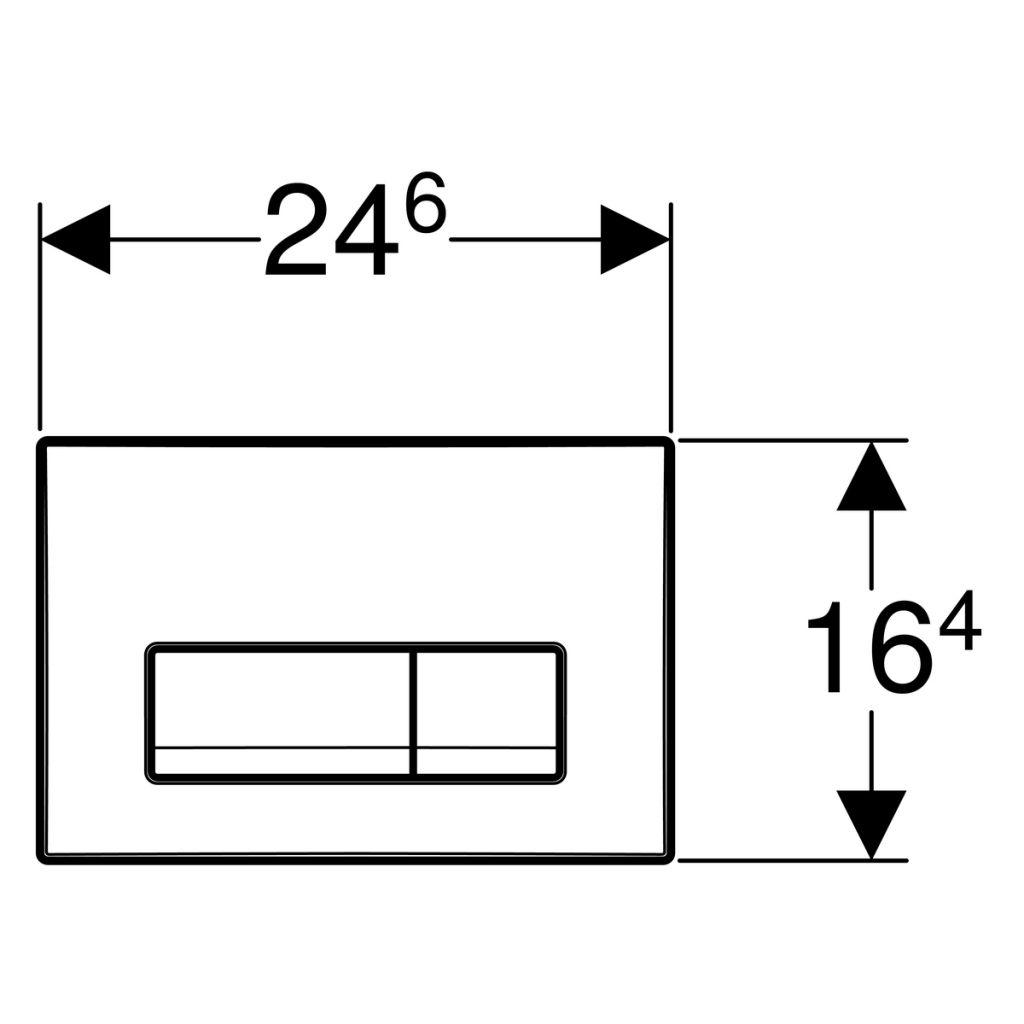 GEBERIT KOMBIFIXBasic vr. chrómového tlačidla DELTA 51 + WC CERSANIT ARTECO CLEANON + SEDADLO (110.100.00.1 51CR AT2)