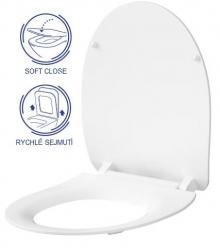 AKCE/SET/GEBERIT - Duofix pre závesné WC 111.300.00.5 bez ovládacej dosky + WC CERSANIT MODUO CLEANON + SEDADLO (111.300.00.5 MO1), fotografie 4/8