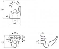 AKCE/SET/GEBERIT - Duofix pre závesné WC 111.300.00.5 bez ovládacej dosky + WC CERSANIT MODUO CLEANON + SEDADLO (111.300.00.5 MO1), fotografie 12/8