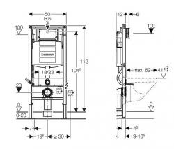 AKCE/SET/GEBERIT - Duofix pre závesné WC 111.300.00.5 bez ovládacej dosky + WC CERSANIT MODUO CLEANON + SEDADLO (111.300.00.5 MO1), fotografie 16/8