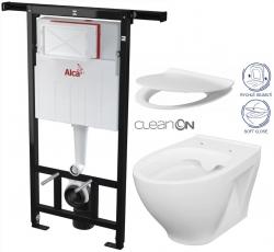 AKCE/SET/ALCAPLAST - SET Jádromodul - predstenový inštalačný systém + WC CERSANIT CLEANON MODUO + SEDADLO (AM102/1120 X MO1)