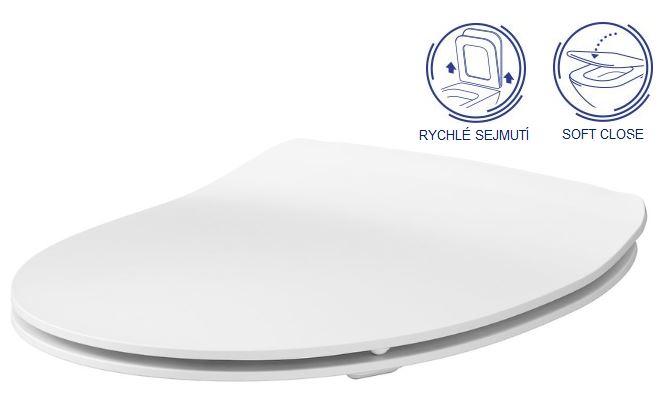 AKCE/SET/LAUFEN - Rámový podomietkový modul CW1 SET + ovládacie tlačidlo CHRÓM + WC CERSANIT MODUO CLEANON + SEDADLO (H8946600000001CR MO1), fotografie 6/10