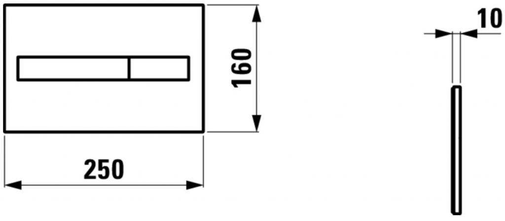 AKCE/SET/LAUFEN - Rámový podomietkový modul CW1 SET + ovládacie tlačidlo CHRÓM + WC CERSANIT MODUO CLEANON + SEDADLO (H8946600000001CR MO1), fotografie 20/10