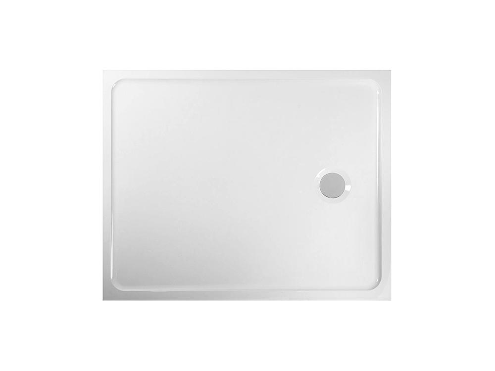 PRIM - Sprchová vanička obdĺžnik 800x1000 biela BEZ NOH (PRIM80100M)